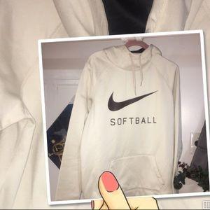 Nike. Softball logo hoodie